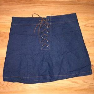 Irini Blue Jean Skirt